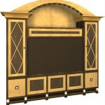 Black and Maple Entertainment Center